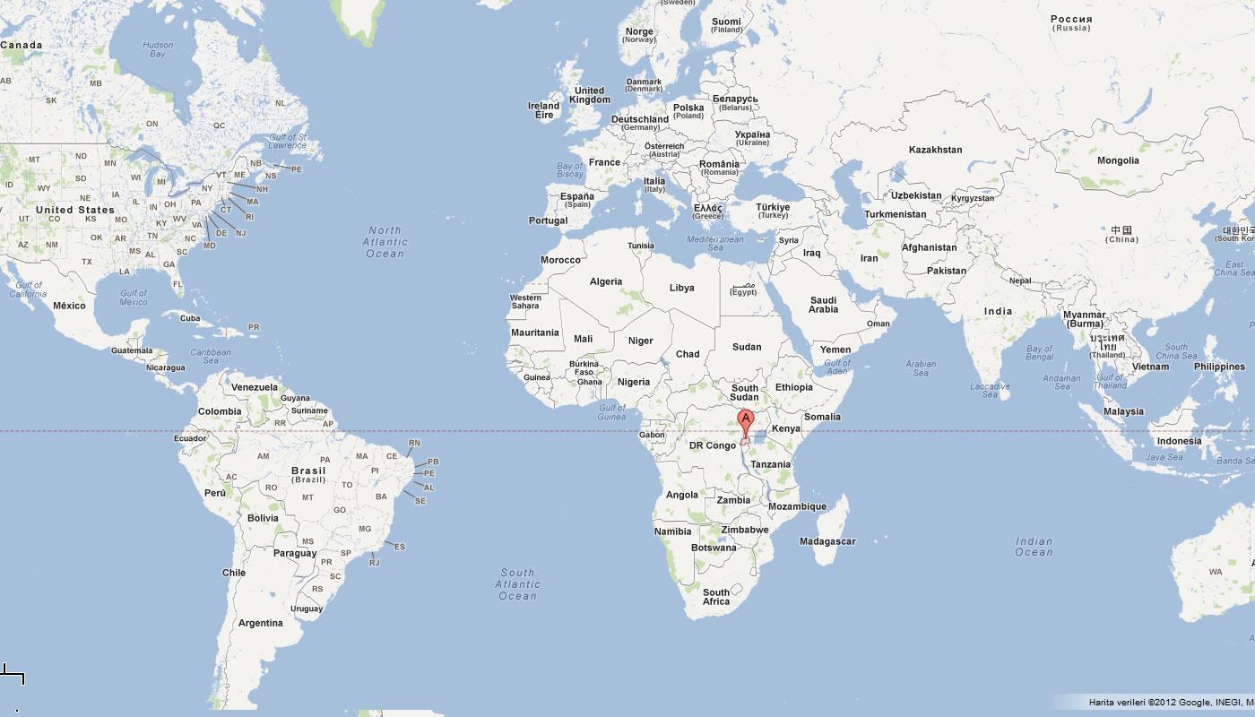 Rwanda I Verden Kort Kort Over Rwanda I Verden Det Ostlige