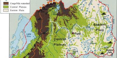 Administrative Kort Over Rwanda Kort Af Administrative Kort Over