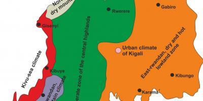 Rwanda Kort Kort Rwanda Ostlige Afrika Afrika